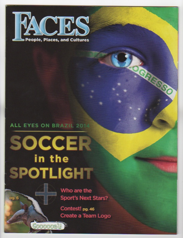 """FACES 2014 Magazine """"ALL EYES ON BRAZIL 2014: Soccer In The Spotlight"""" – Four New Articles"""