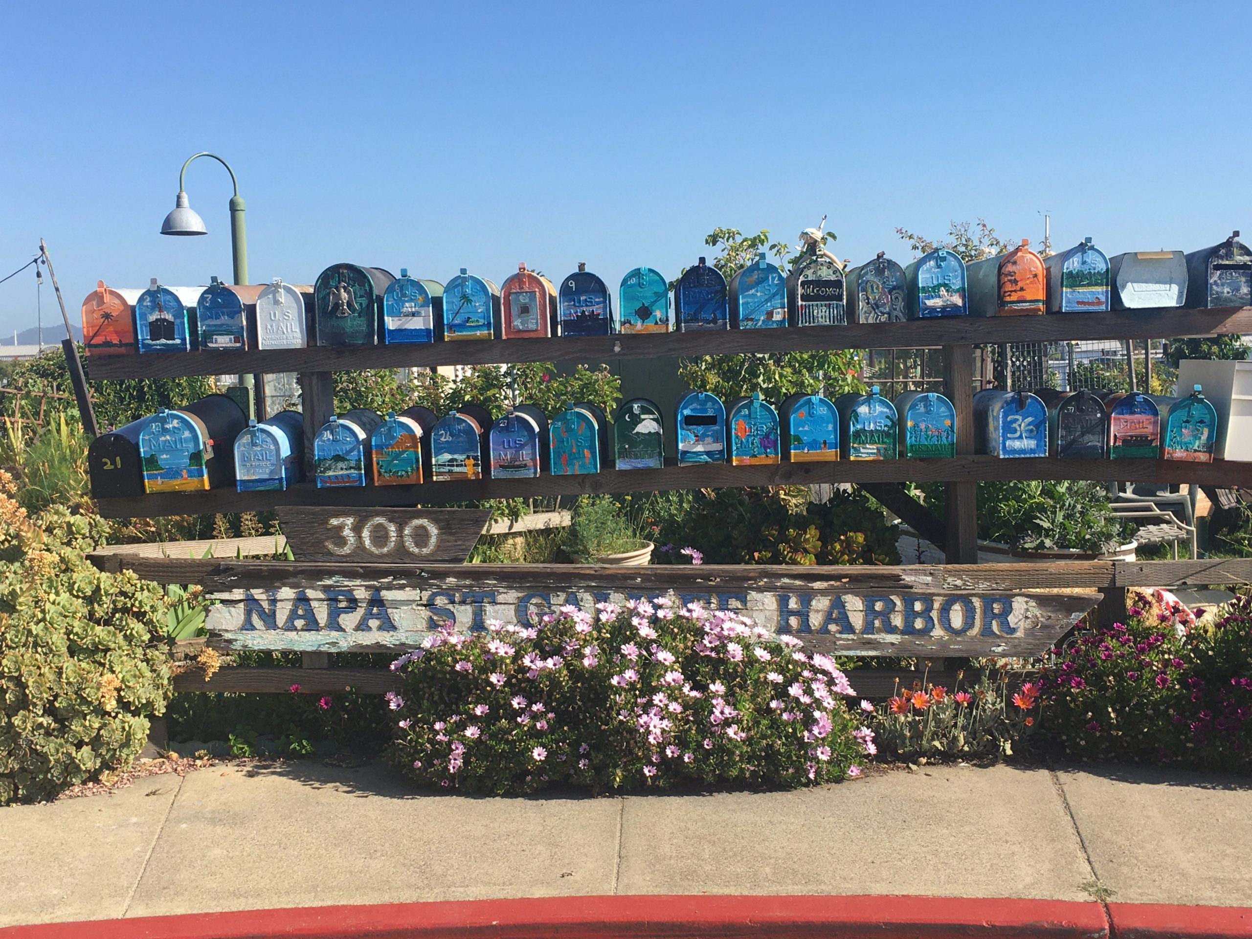 Sausalito House Boat Mail Boxes